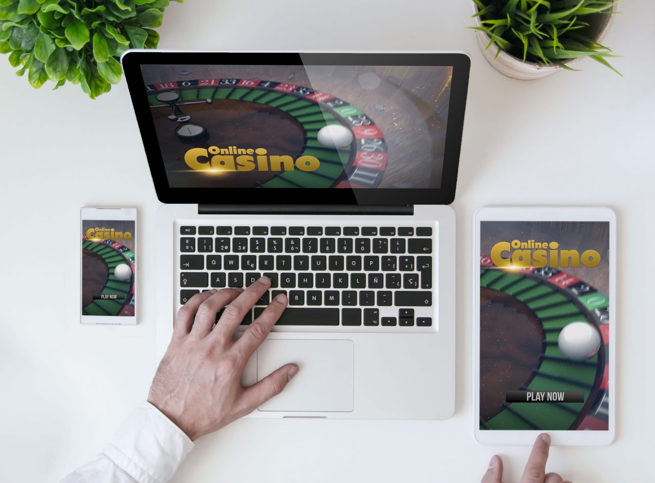 person gambling online